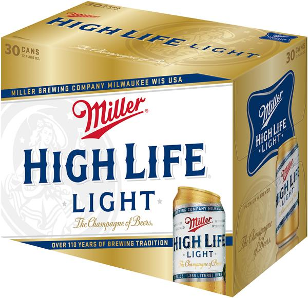 miller high life light beer 30 pack hy vee aisles online grocery shopping. Black Bedroom Furniture Sets. Home Design Ideas
