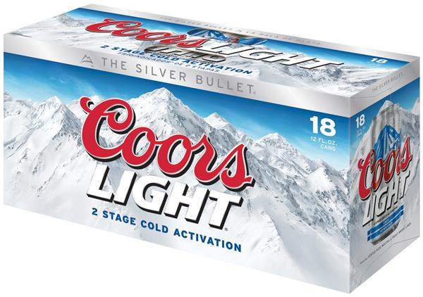 Coors Light Beer 18 Pack Hy Vee Aisles Online Grocery